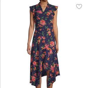 NANETTE LEPORE Navy Print Dress | 6